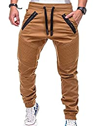 076ea506243c3 Pantalones de Hip Hop de Drawsting Pantalones Pitillo de Color sólido Pantalones  de Skate