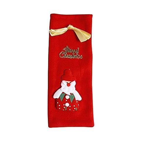upxiang hiver Wine Bottle Dress, coffret à vin de Noël Christmas Wine Decoration Wine Bottle Dress, Sac de couverture Père Noël de Noël bouteilles de vin Wine Bottle Cover, décoration Parti principal D