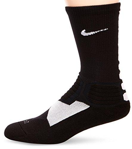 NIKE Herren Socken Hyperelite Basketball Crew, Black/White, M, SX4801-007