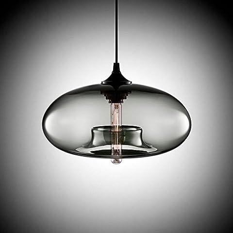 Cozyle Moderne Design-Anhänger-hängendes Licht Glas Schatten Grau