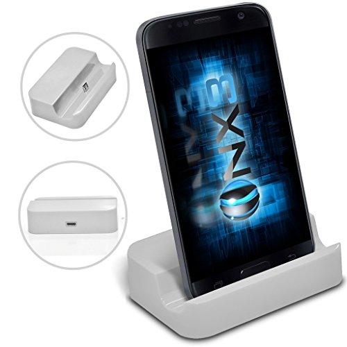 (White) Microsoft Lumia 650 Desktop USB Standfuß Daten-Synchronisierungs-aufladendockstation ONX3®