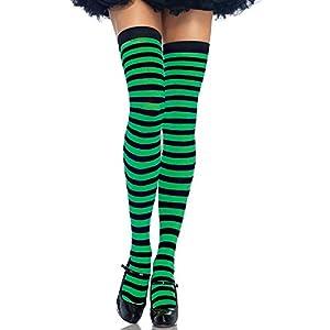 Leg Avenue- Mujer, Color negro y verde kelly, Talla Única (EUR 36-40) (73214)