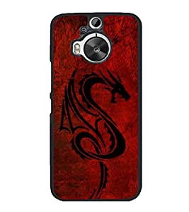 Dragon 2D Hard Polycarbonate Designer Back Case Cover for HTC One M9 Plus :: HTC One M9+ :: HTC One M9+ Supreme Camera