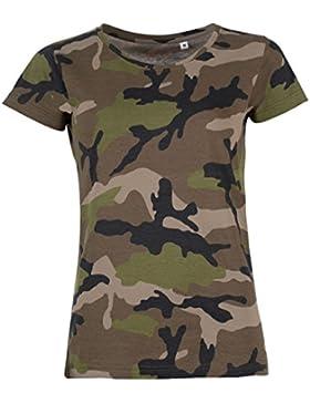 SOLS- Camiseta de manga corta Camo para chica/mujer
