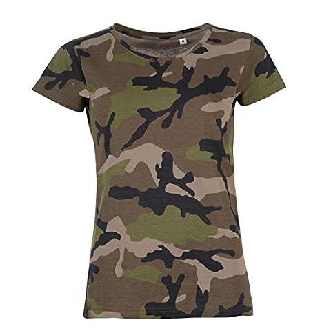 SOLS - T-shirt à motif camouflage - Femme (S (FR 36/38)) (Militari T-shirt)