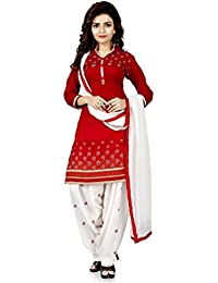 [Sponsored Products]Dubai Creation Women's Pure Cotton Unstitched Salwar Suit Dress Material
