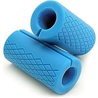Comparador de precios CampTeck U6816 Grip Barra Silicona Grips Adaptador Mango para Mancuernas Pesas - Aumenta el tamaño del Brazo, Bíceps, Tríceps, Antebrazos y Fuerza de Agarre - Set de 2 (Azul) - precios baratos