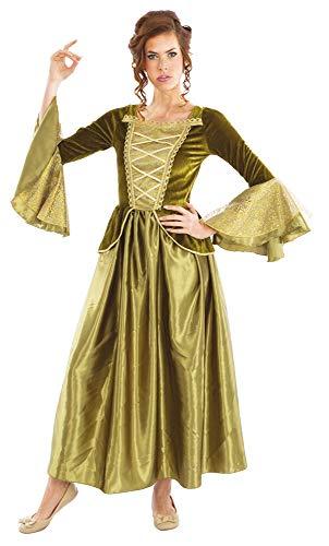 Burgfräulein Sarina Kostüm für Damen - Grün
