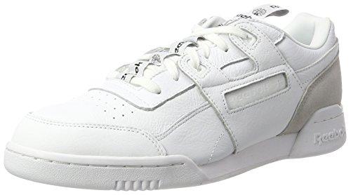 Reebok Workout Plus It, Zapatillas para Hombre, Blanco (White/Skull Grey/Black), 40.5 EU