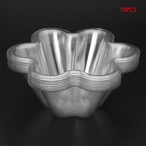 liangjunjun Eisform, Kunststoff, Einweg, Eiscreme, transparent, Suppe für Bonbons, Salat, Schüssel, Küche, 10 Stück (Einweg-bonbons)