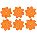 PartyHut Orange Diamond Crystal Shape Gel Floating Candle- Pack Of Six