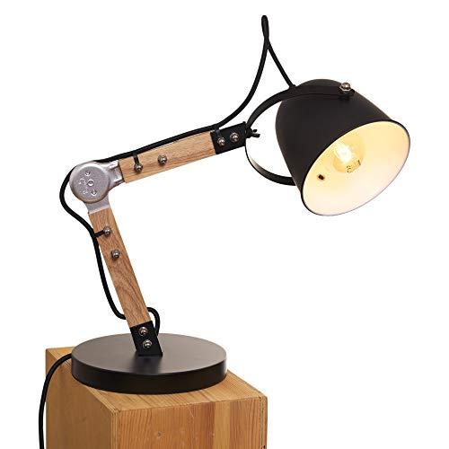 Opis TL1 Lámpara de Escritorio Vintage de Madera y Metal/Lámpara Mesa Retro (Madera y Metal)