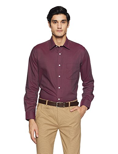 Arrow Men's Formal Shirt (8907378740960_ARES0374B_39_Wine)