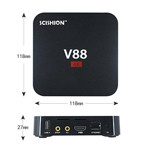 4K Android Tv Box, 1080P Di Smart Multimedia Player, Internet Media Player Rockchip 3229 Quad Core Emmc 8Gb, Giocatore Del Gioco Completamente Sbloccato, Può Guardare Qualsiasi Cosa, Nero