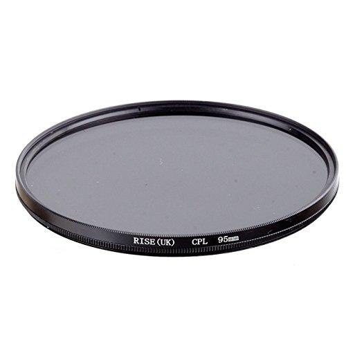 CPL 95mm Polarisationsfilter CPL für Ziel von 95mm Durchmesser für alle Marken Canon Nikon Sony Pentax Fuji Olympus Leica Panasonic Sigma Tamron Minolta Zeiss Tokina Kodak Rodenstock SLR DSLR–adaptout Französische Marke