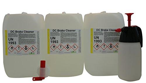 DC DruckChemie GmbH Bremsenreiniger 3 x 10 Liter Kanister + Pumpsprüher + Auslaufhahn - 30 Liter