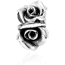 Memuà SY51 CORONA DI ROSE, ciondolo in argento 925 a forma di quattro rose