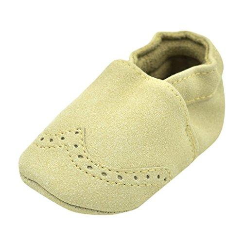 Igemy 1 Paar Kleinkind Baby Jungen Mädchen Neugeborene Schuhe Soft Kinder Soft Nubuck Schuhe Beige