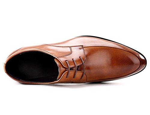 Scarpe Uomo in Pelle Scarpe da uomo in pelle Business Formal Wear Tempo libero Retro puntato scarpe marea britanniche ( Colore : Marrone , dimensioni : EU45/UK9 ) Marrone