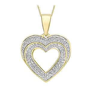 Carissima Gold Damen – Kette 375 Rundschliff Diamant 1.42.6334