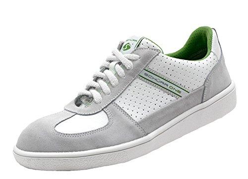Schürr Safety Sneaker ONE Sicherheitsschuhe mit Stahlkapp in Sneaker Optik, S1 Weiß-Grün