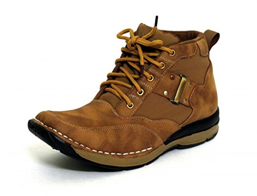 FBT Men's Camel Brown Synthetic Boots (Fbt Men's 7302- 9 UK) - 9 UK