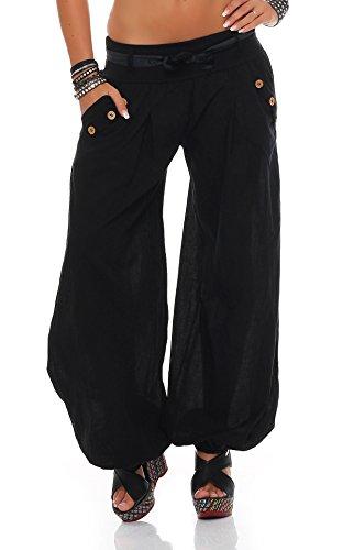 ZARMEXX dames bloomers pantalon d'été sarouel pantalon en coton baggy plag