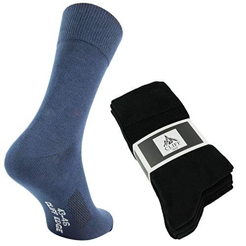 Cliff Edge 10 Paar hochwertige Premium Herren-Damen-Socken   atmungsaktive Socken aus gekämmter Baumwolle (39-42, Business Colors - 10 Paar) Herren-10