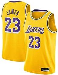 SansFin Hommes Adulte Lebron James #23 Lakers Maillot Basketball Jersey Basket Maillots de Basket Uniforme Top Nouveau Tissu Brodé