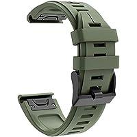 Cooljun Compatible avec Garmin Instinct,Bracelet de Remplacement Facile en Silicone de Bande de Montre de Ajustement Rapide