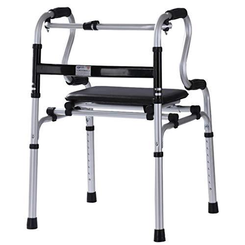 Peixia Gehwagen, Rollator, älterer Behindertenhandlauf, Gehhilfe, Reha-Gehhilfe, Rollfußstock, höhenverstellbar, faltbar (Schiebetür Pool Sicherheit)