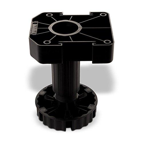 SO-TECH® Set Möbelfuß Sockelfuß Stellfuß 125 mm verstellbar