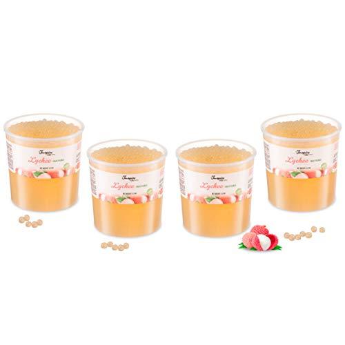 Geschäftspackung - Litschi - Popping Boba für Bubble Tea 4 x 3.2kg Eimer