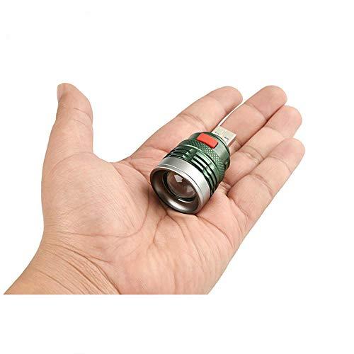 Li KererUSB tragbare Ladelaterne Computerlicht 3-Mode Leselampe USB-Schnittstelle Mini-Blitzlicht Q5 Linterna Taschenlampe von Power Bank GT537, kaltweiß