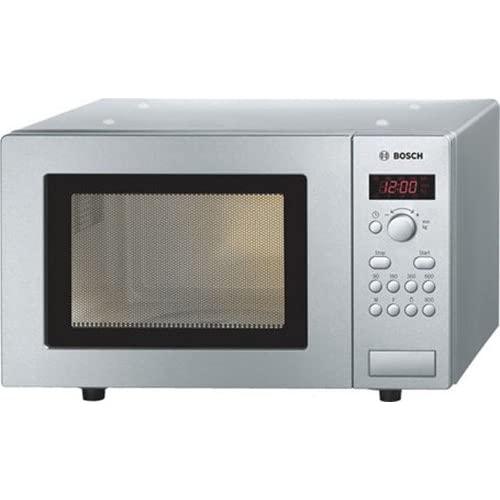 Bosch HMT75M451B Serie 2 Freestanding 800W Microwave Oven, 17 litres, Brushed Steel