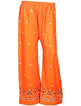 Indistar Regular Fit Women Orange Trousers
