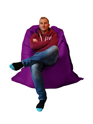 Extra Large Giant Beanbag Purple - Indoor & Outdoor Bean Bag - MASSIVE 180x140cm - great for Garden by Outside & In