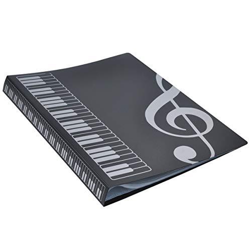 Sarahew74 80 fogli a4 cartella del libro di musica cartella per pianoforte banda a inserti di tipo corale cartella di musica fornitura di prodotti impermeabili per archiviazione di file