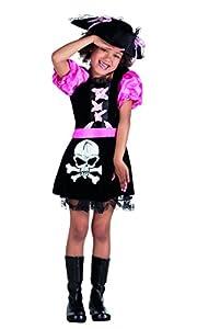 Barco pirata del compañero Sombrero de las muchachas del vestido de lujo del traje de Buccaneer niños de Childs del Caribe (7-9 años)