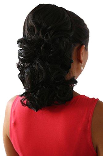 PRETTYSHOP Clip sur l'extension postiche Pièce de cheveux ondulé Look naturel fibres résistant à la chaleur 40cm noir naturel # 2 PH5