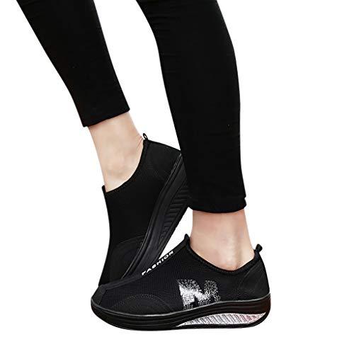 Zapatillas Deportivas MujerFannyfuny Zapatilla de Deporte Mujer Zapatos Cuña Cómodos Mocasines Plataforma...