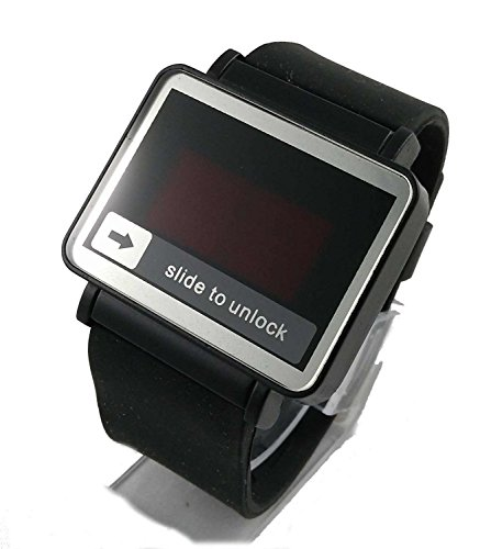 zDelhi.com Rectangle Shape Blue led Touch Screen Watch