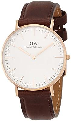 Daniel Wellington Bristol - Reloj de cuarzo para mujer, con correa de cuero, color marrón de Daniel Wellington