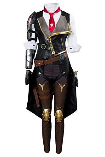 Manfis Overwatch D.VA OW Ashe Elizabeth Caledonia-Uniform Kostüm Damen Kostümset Fasching Karneval Spiel Cosplay Kostüm