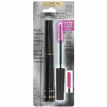 3x L'Oreal Carbon Black Telescopic Dramatic Lengthening and Intensifying Mascara Wimperntusche - Carbon Black 935 -USA-