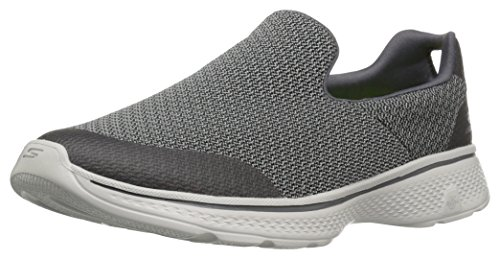 Skechers Men Go Walk 4 Low-Top Sneakers, Grey (Char), 10 UK 44 1/2 EU