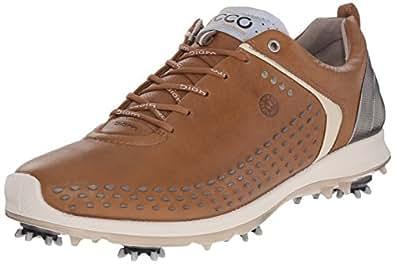 ECCO Men's Biom G 2 Golf Shoe, Camel/Oyster, 39 EU/5-5.5 M US