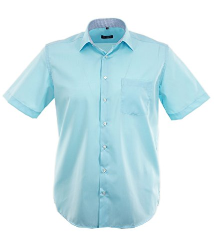 eterna -  Camicia classiche  - Basic - Classico  - Uomo Turchese