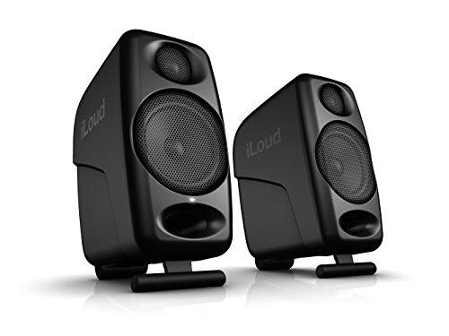 iLoud Micro Monitor Black Special Edition - kleinste Studio-Referenz-Monitorpaar weltweit, 4 Class-D-Endstufen, 50 Watt (RMS) bi-amped, Bassreflex, schwarz