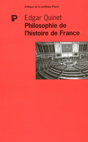 Philosophie de l'histoire de France